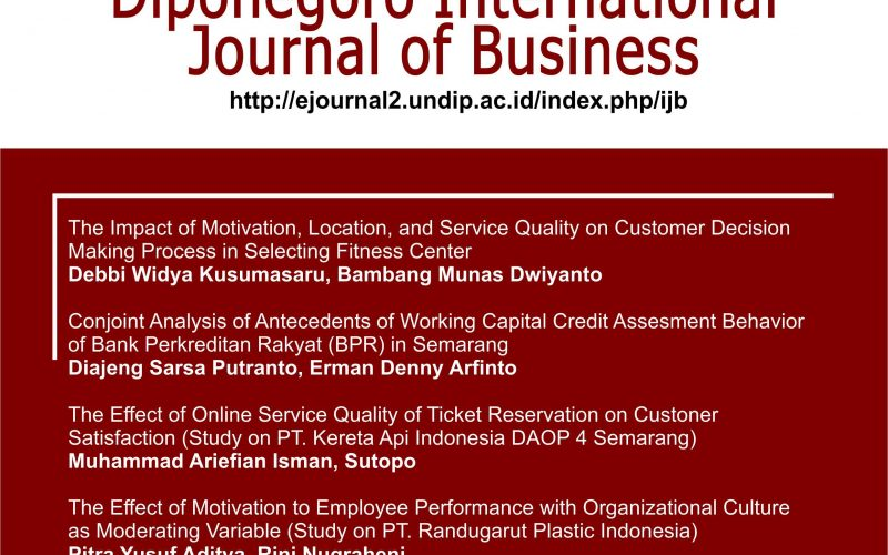 Diponegoro International Journal of Business (DIJB)