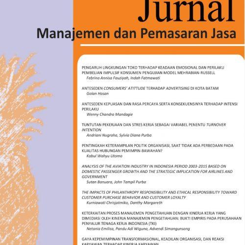 Jurnal Manajemen dan Pemasaran Jasa
