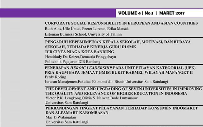 JMBI UNSRAT (Jurnal Ilmiah Manajemen Bisnis dan Inovasi Universitas Sam Ratulangi)