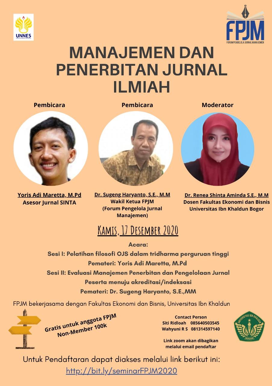 Manajemen dan Penerbitan Jurnal Ilmiah Berkala