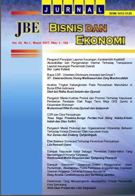 Jurnal Bisnis dan Ekonomi (JBE)