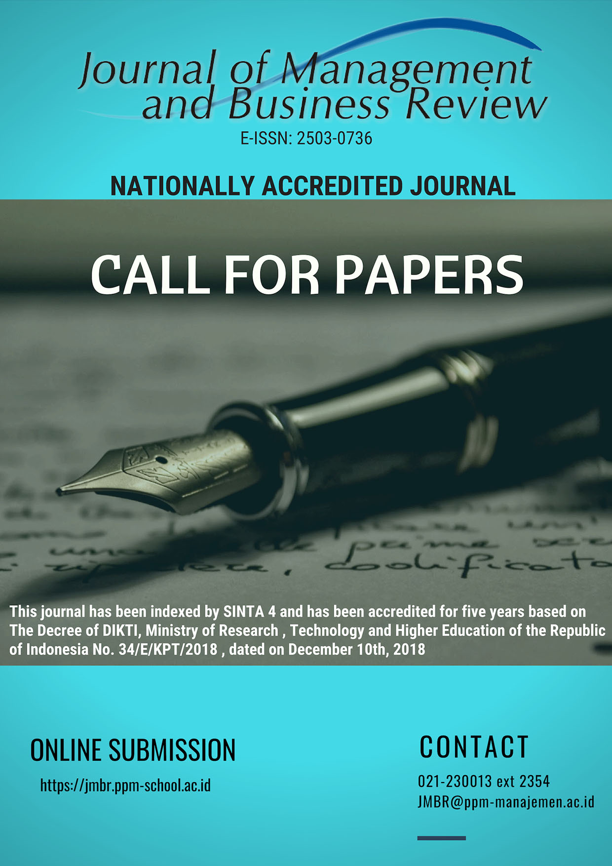 JOURNAL OF MANAGEMENT AND BUSINESS REVIEW (JMBR)